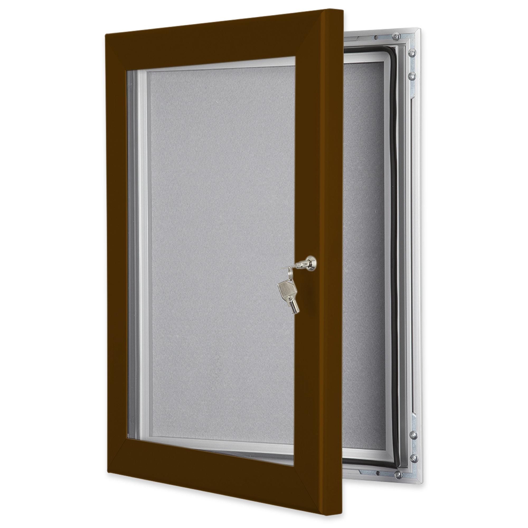 Brown-Outdoor-Lockable-Pin-Boards