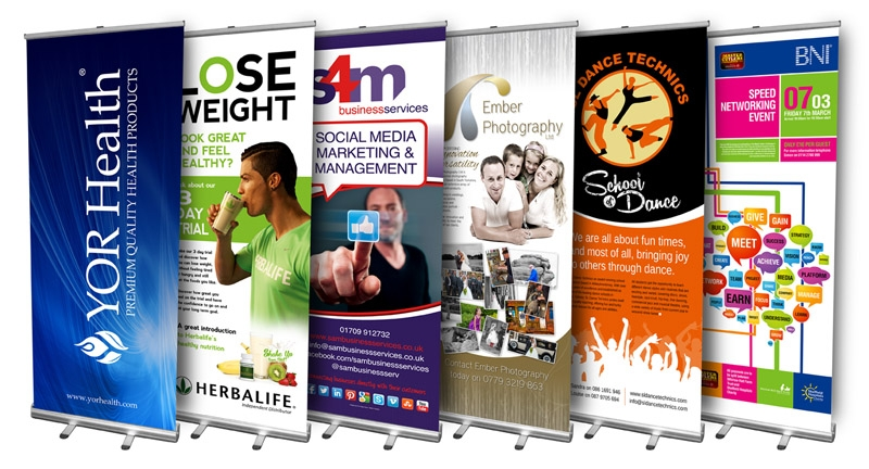 examples of roller banner stands