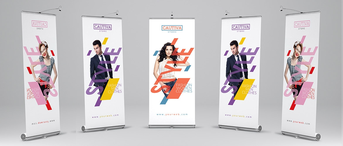Roll up roller banner stands and pull up banner stands