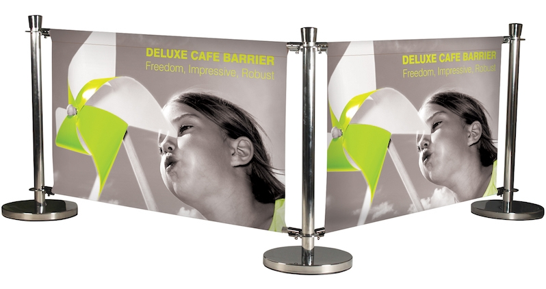 Deluxe Cafe Barriers 2 linked system
