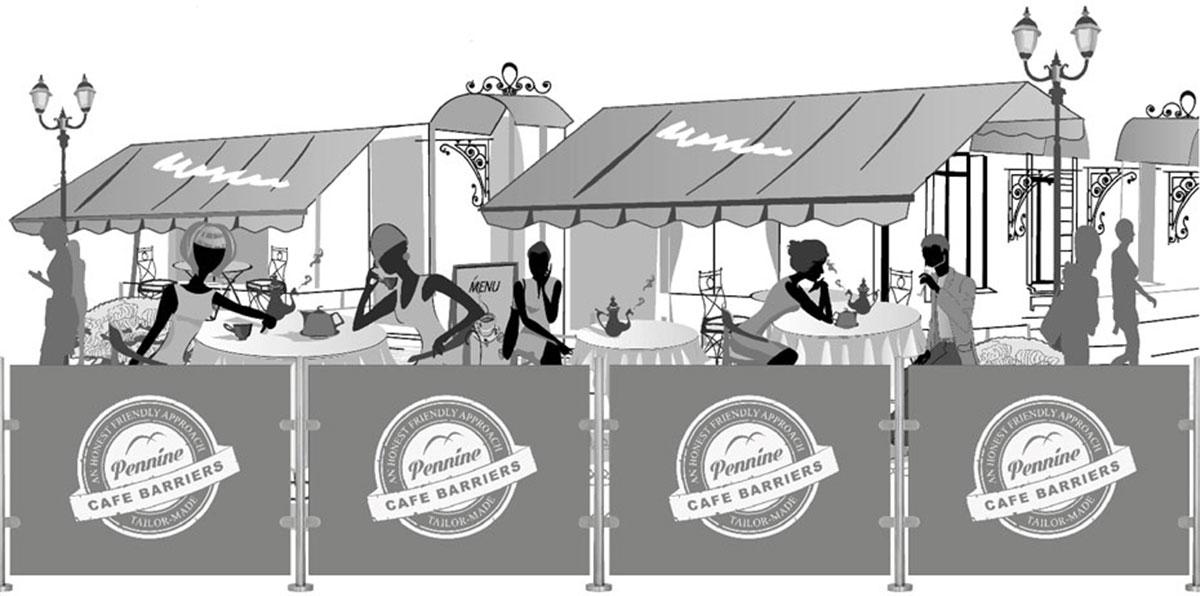 cafe barriers illustration