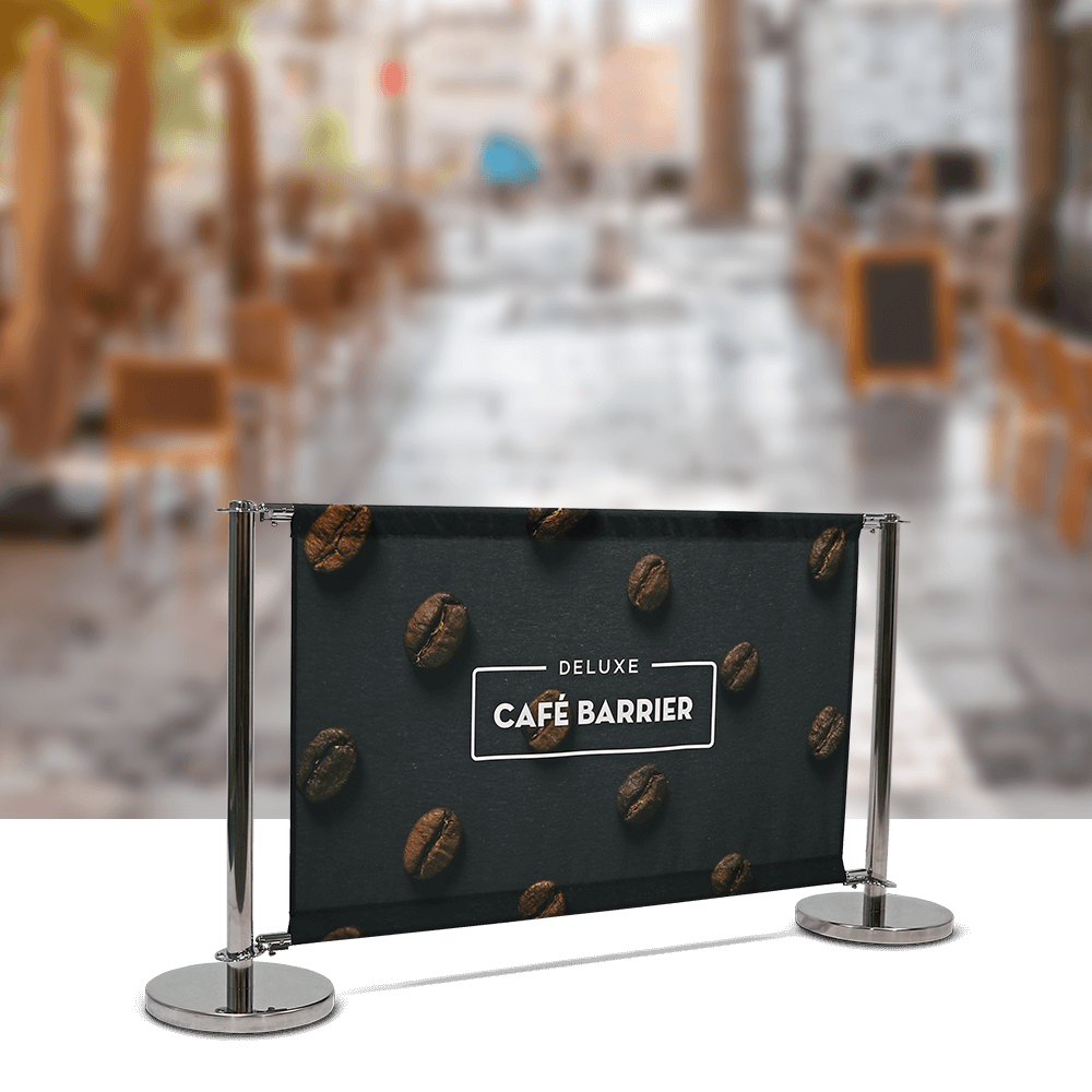 Deluxe chrome cafe barrier
