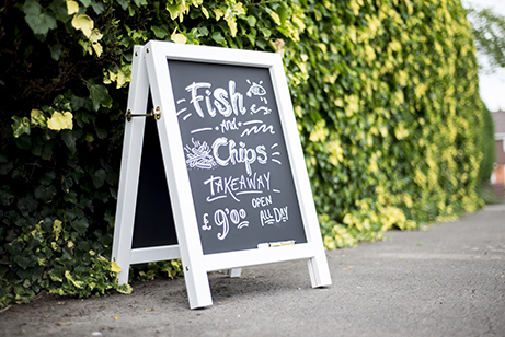 Fish n Chips Chalkboard Sign