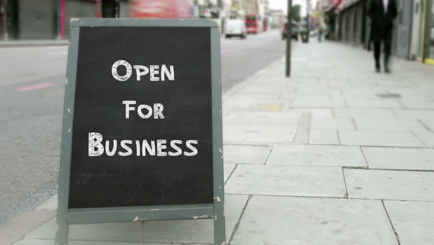 Open For Business - Chalk A-Board Sign