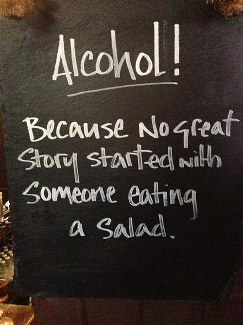 Alcohol - chalkboard signs pic