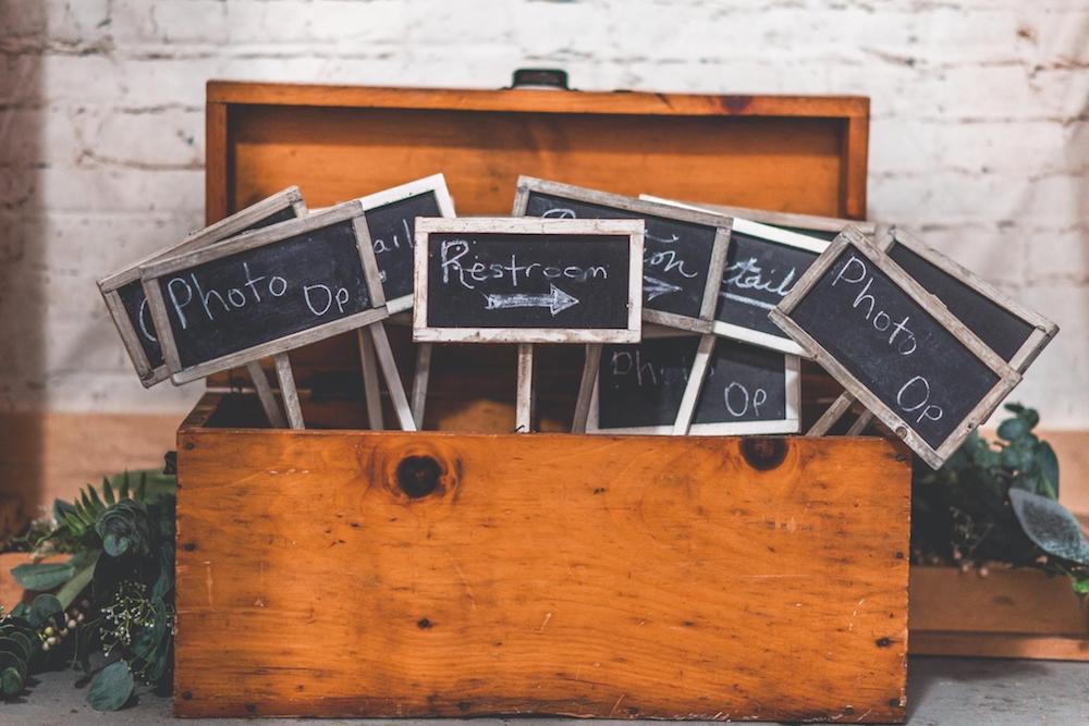 Box full of chalkboards