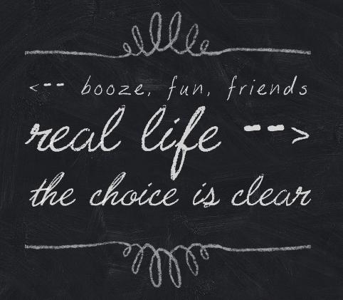 choice is clear - chalkboard signs pic