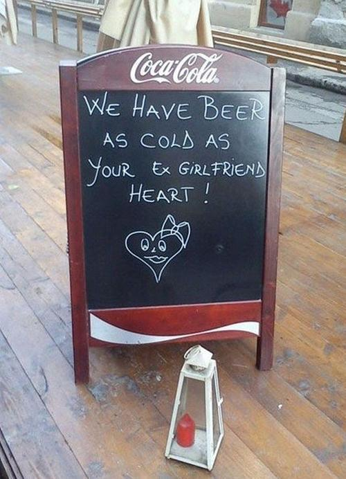 Cold Beers - chalkboard signs pic