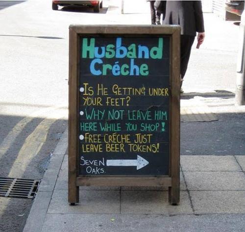 Husband Crèche - chalkboard signs pic