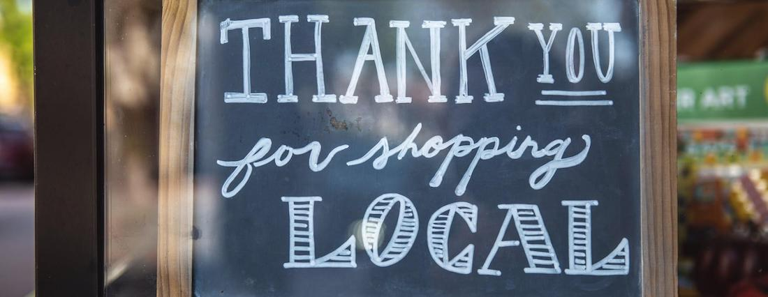 thank you for shopping local - chalkboard signs pic