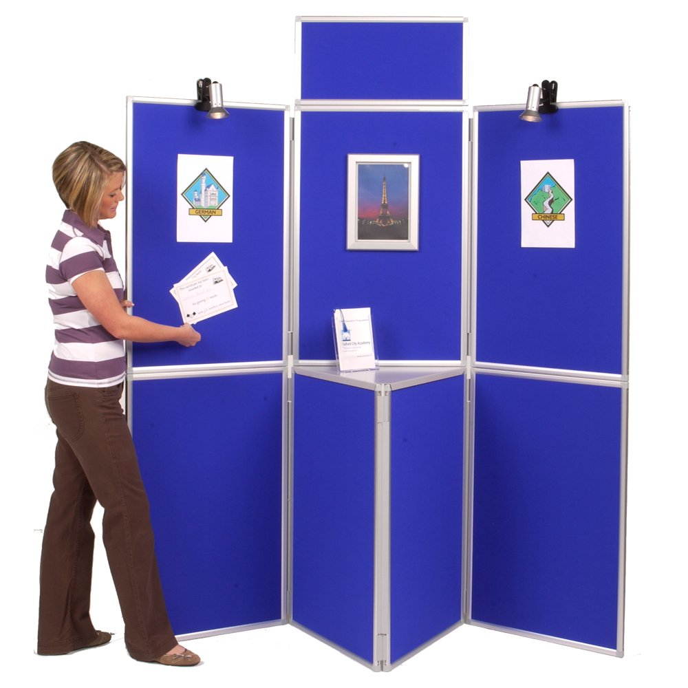 Example of a trade show panel board display stand foldable