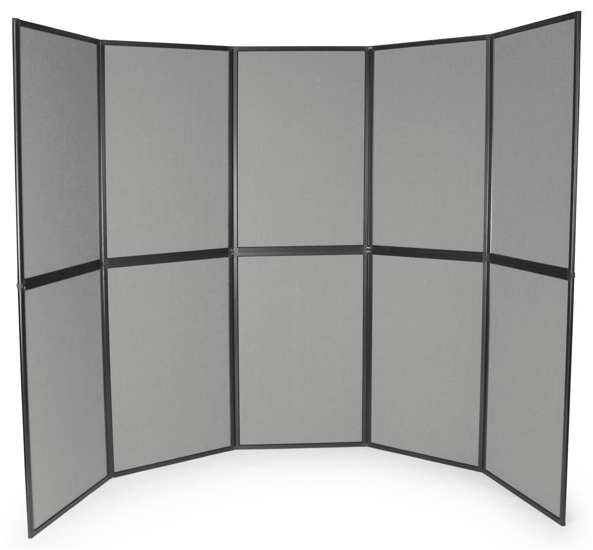 Large Grey Folding Display Boards System