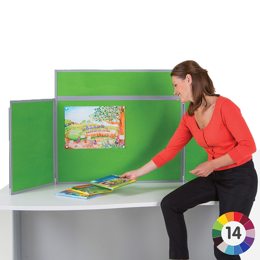 Tabletop Folding panel display boards kit for exhibitions and tradeshow events
