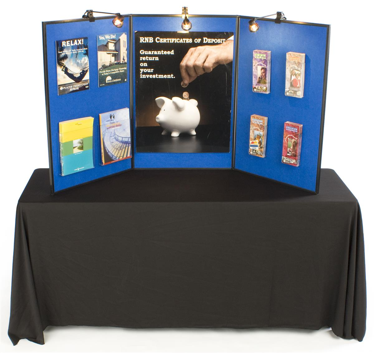 Folding Display Board System Table Top version pic1