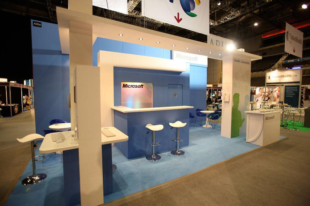 Large image of the Microsoft Exhibition Tradeshow Display Stand