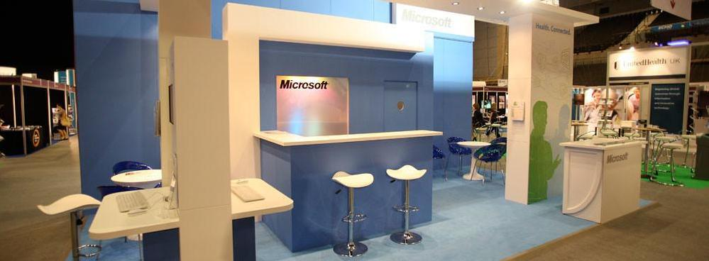 Microsoft Exhibition Display Stand at a Trade Show Event