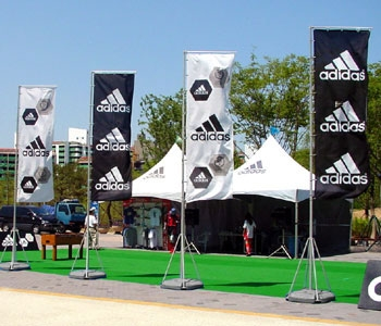 Adidas Flag Poles and Flags