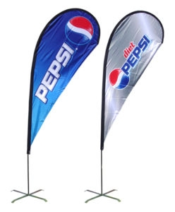 Pepsi Branded Portable Flag Pole