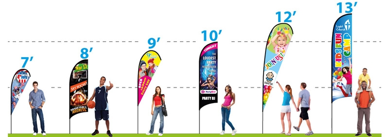 Portable Flag Banners - sizes and styles