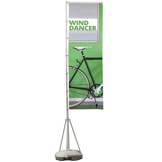 Wind Dancer Portable Flag Pole with Printed Flag Banner