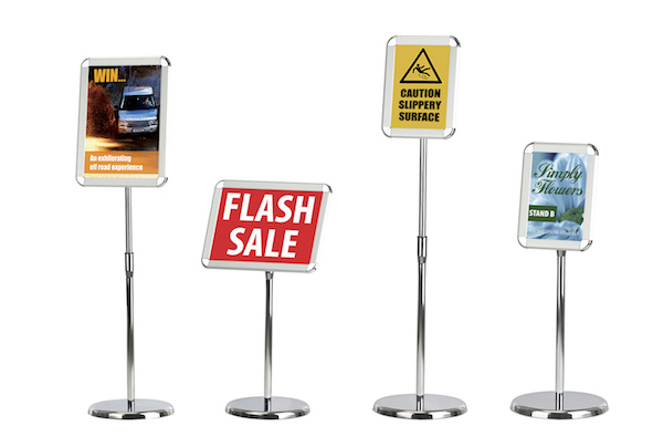 4 types of information stand floor standing poster frames