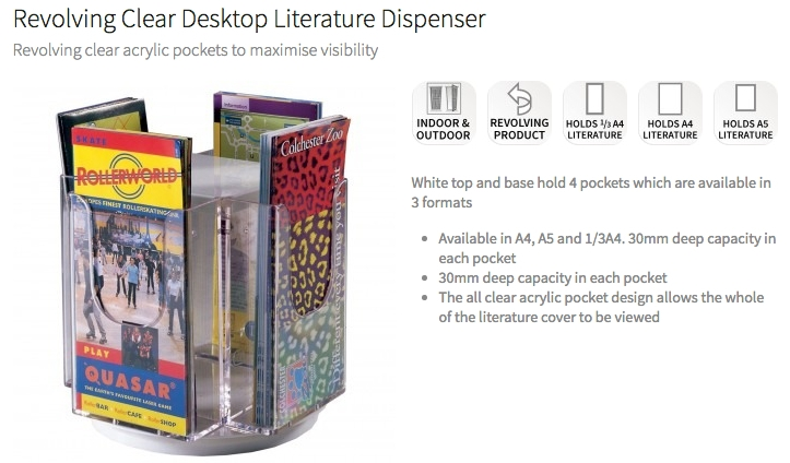 Desktop Literature Stands