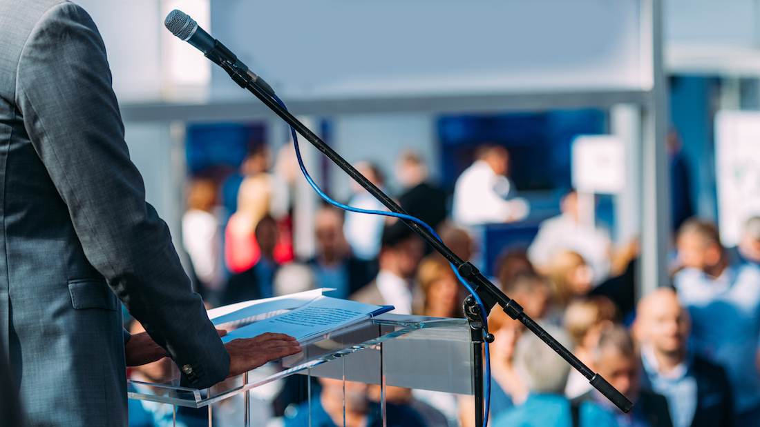 12 Ways to Command an Audience from Behind a Lectern