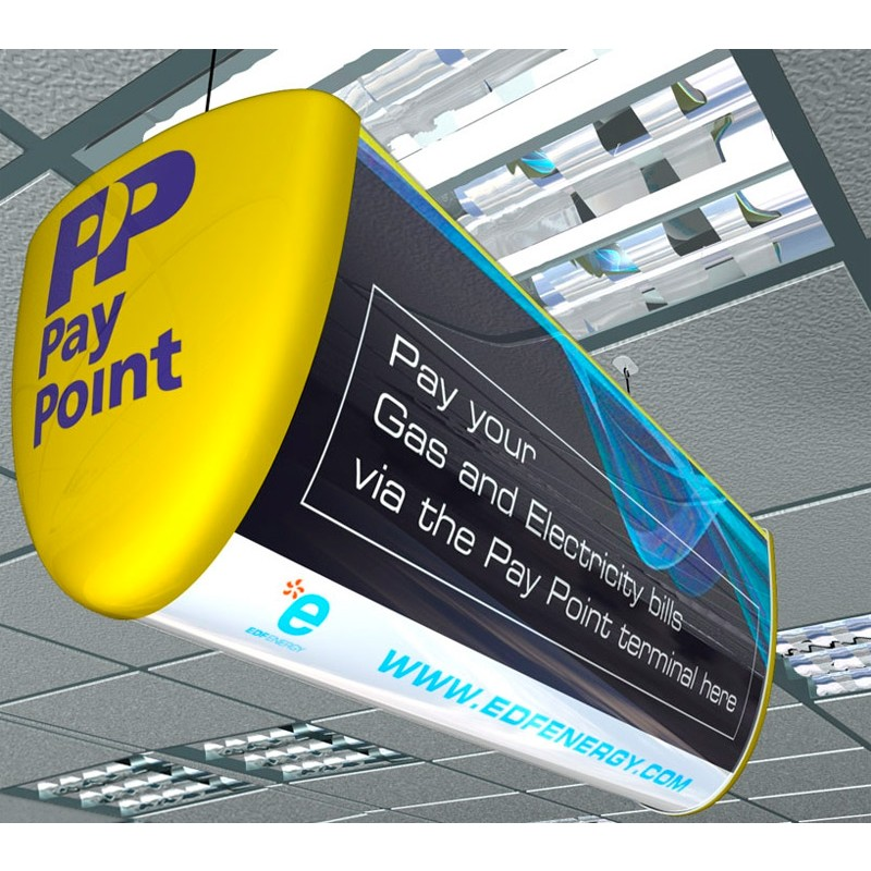 Double Sided Hanging Lightbox Displays