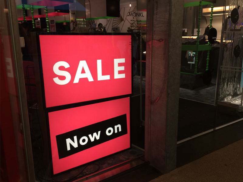 Sale Now On - retail store led light box signs