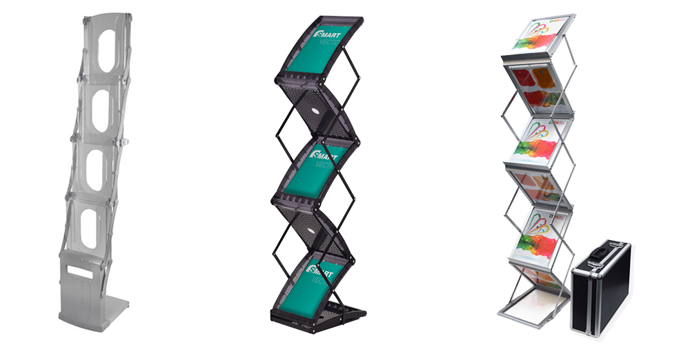 3 Portable Literature Stand examples