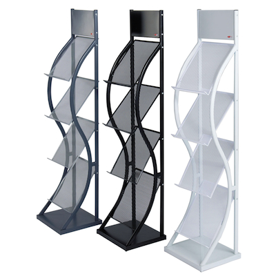 3 colours of Wave Brochure Stands