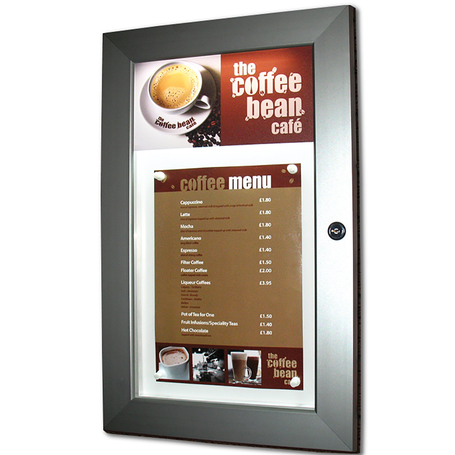 Slimlok Illuminated Menu Display Case
