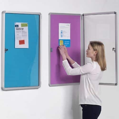 lockable notice board