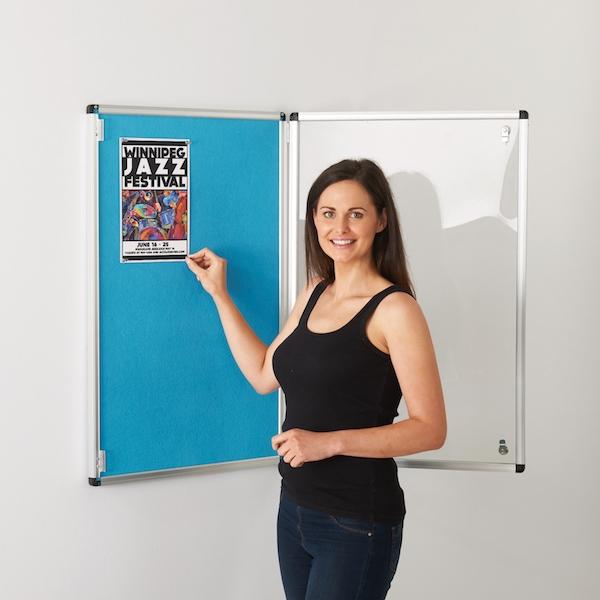indoor locking notice board
