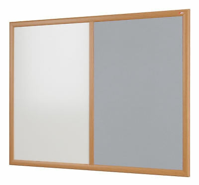 Wood effect framed combo notice board