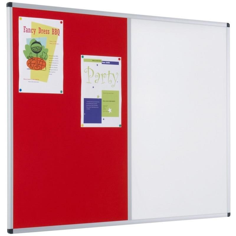 Aluminium framed dual combination boards