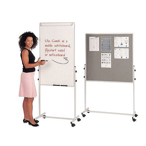 Combination Mobile Whiteboard - Product Pic Example