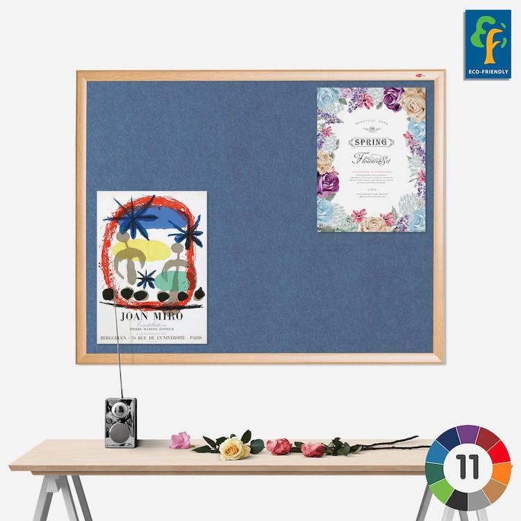 Eco-Colour Oak Framed Notice Board