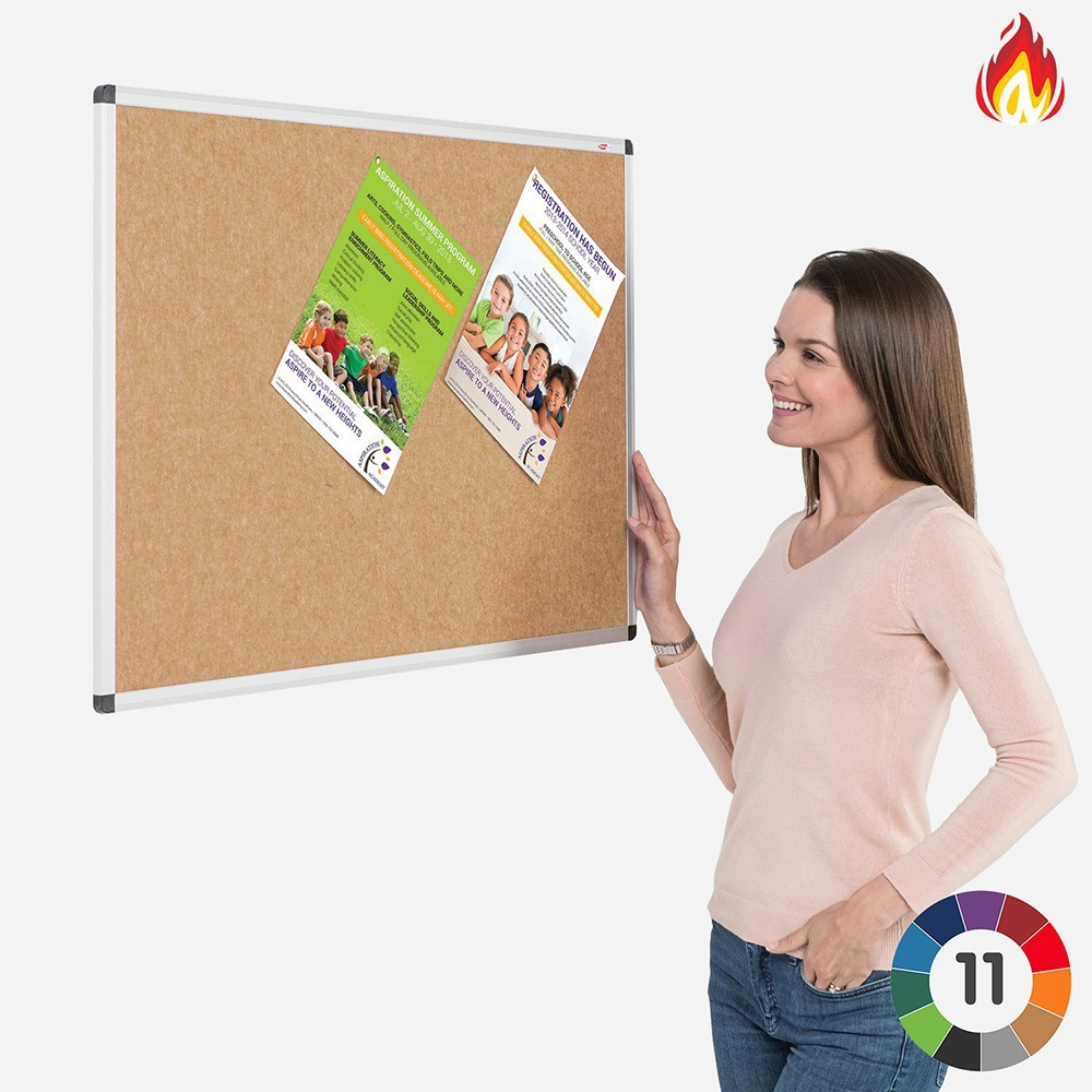 Eco-Colour Fire Resistant Notice Boards