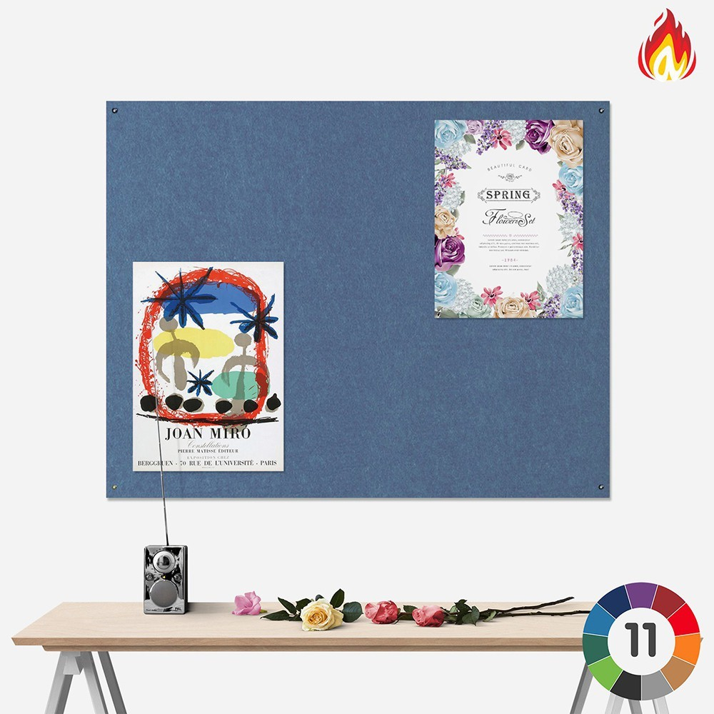 Frameless Eco-Colour Fire Resist Notice Board
