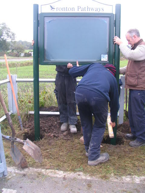 Erecting a community notice board - in situ