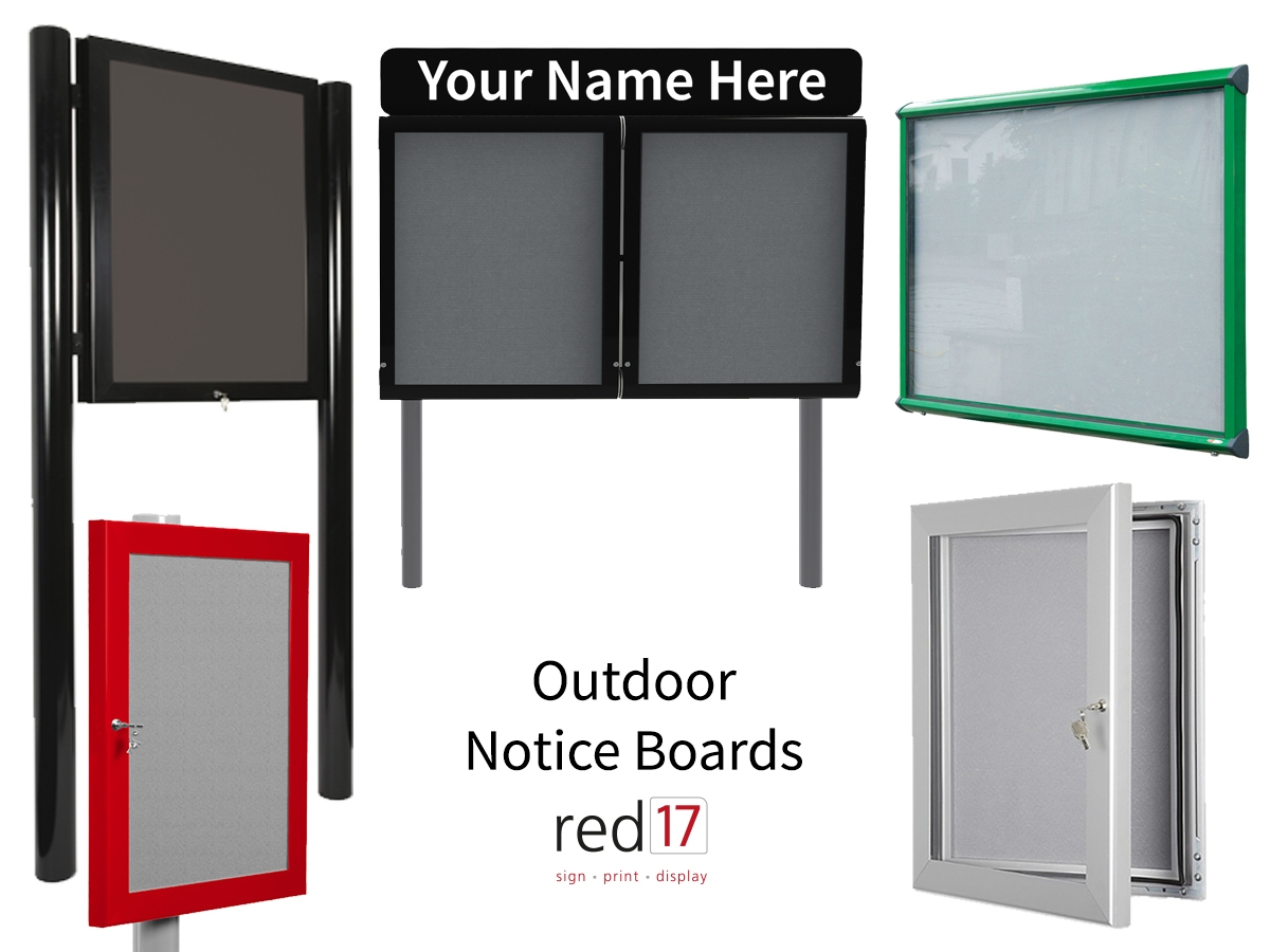 Outdoor Notice Boards Range by Red17