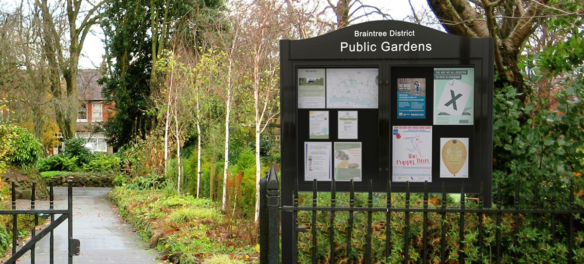 Public Gardens Community Outdoor Notice Board