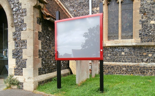 Church with Outdoor Noticeboard