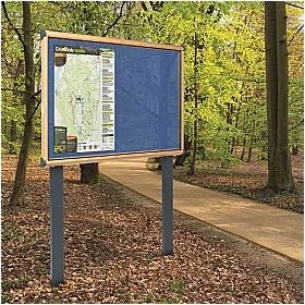 Post Mounted Outdoor Notice Board near park entrance