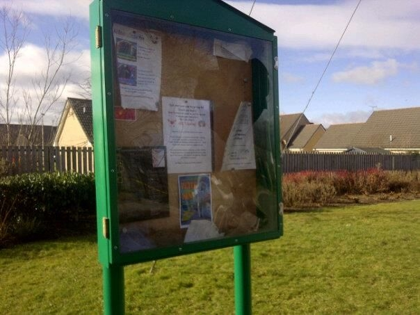 Vandalised Notice Board