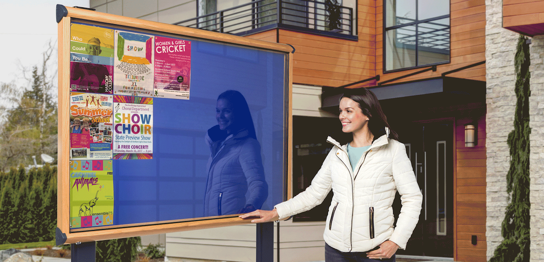 Grab attention with Outdoor Notice Boards