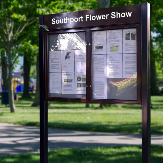 Outdoor Post Mounted Noticeboard example
