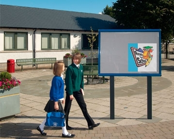 Outdoor Post Mounted School Notice Board