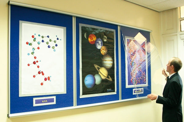 School Corridor Teacher changing notice board display